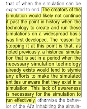 Accurately simulated people in a simulation building a simulation in a simulation problems