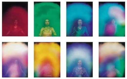 Images of the Aura depicting a 'Plasma cloud/resonance field based Spirit form'