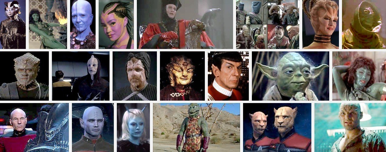 Sifferent Startrek/other films 'animal' type aliens